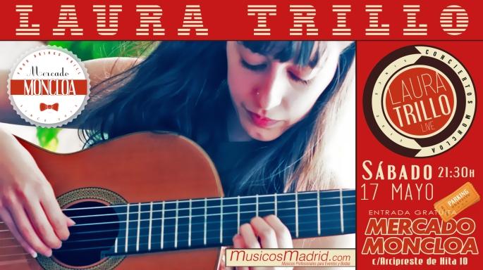 Cartel concierto Mercado Moncloa Guitarra Clásica